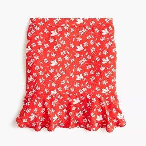 J.Crew Mercantile Ruffle Floral Poppy Mini Skirt
